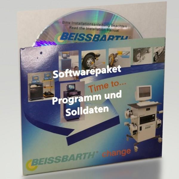 Softwarepaket Programm Solldaten Update Werksdatensatz Beissbarth WIN-Achsmesscomputer Fahrzeugdaten