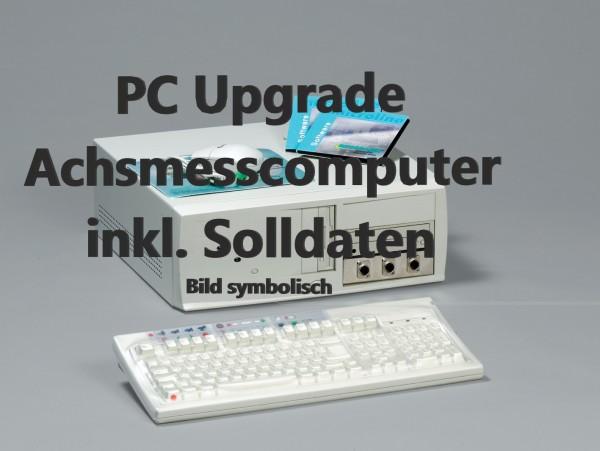 PC Upgrade Achsmesscomputer Aufrüstung Computer mit Solldaten und neuestem Programm