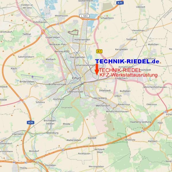 Anfahrt TECHNIK-RIEDEL Karte